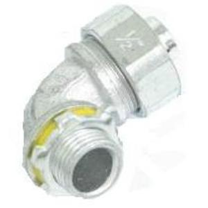 "Cooper Crouse-Hinds LT15090 Liquidtight Connector, 90°, 1-1/2"", Non-Insulated, Malleable Iron"