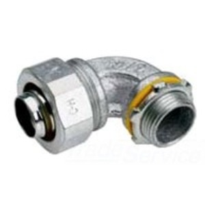 """Cooper Crouse-Hinds LT30090 Liquidtight Connector, 90°, 3"""", Non-Insulated, Malleable Iron"""
