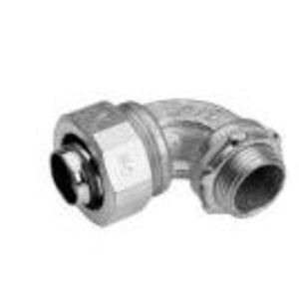 """Cooper Crouse-Hinds LT5090SA Liquidtight Connector, 90°, 3/4"""", Aluminum"""