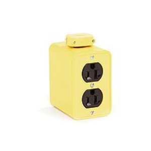 Woodhead 3005-1 (2)dup 5-15r W-proof Outlet Bx