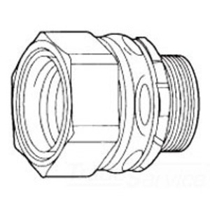"""Cooper Crouse-Hinds LTB50G Liquidtight Connector With Ground Lug, Insulated, Size: 1/2"""""""