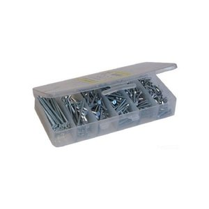 Dottie 632 Assorted # 6-32 Slotted Flat Head Machine Screws, 370 Total