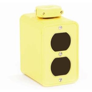 "Woodhead 3000 Portable Outlet Box, 3-3/8"" Deep - 2 Duplex Coverplates"