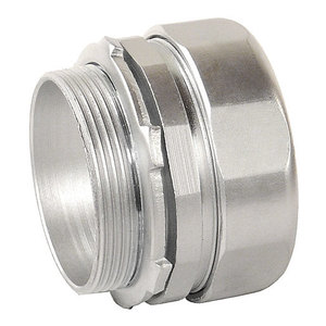 """Cooper Crouse-Hinds CPR5 Rigid Compression Connector, 1-1/2"""", Threadless, Steel"""