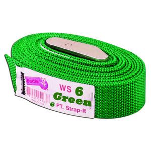 Dottie WS06 Web Strap w/ Buckle, Nylon, 6', Green