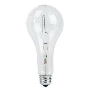 Philips Lighting 189PS25/64-125V-60PK Incandescent Bulb, PS25, 189W, 125V, Clear