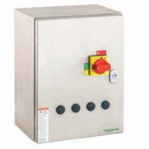 Square D LE1D093A62OT70 Starter, IEC, Enclosed, TeSys D, 9A, 600VAC, NEMA 1, 480VAC Coil
