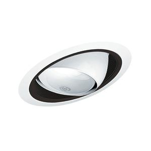 "Juno Lighting 619-BWH Slope Trim, Standard, Eyeball, 6"", Black Baffle/White Trim"