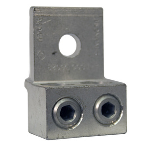 Milbank Z703918-AC Mechanical Lug, 2-Conductor, 1-Hole Mount, Aluminum, 4 AWG - 350 MCM