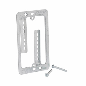 Cooper B-Line BB10L Mounting Bracket, Cover Plate, 1-Gang, Low Voltage, Nail-On, Metallic