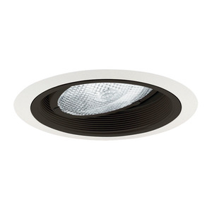 "Juno Lighting 224-BWH Baffle Trim, Gimbal, 6"", Black Baffle/White Trim"
