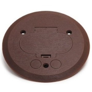 "Wiremold 895P-BRZ Round Duplex Receptacle Cover, 5-1/2"" Diameter, Non-Metallic"