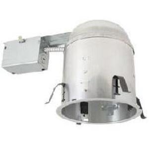 """Elite Lighting EZ6RIC-AT-W Universal IC Remodel Housing, Air-Shut, 6"""""""