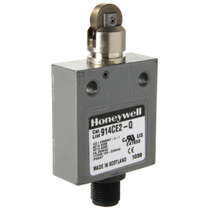 Micro Switch 914CE2-Q Limit Switch, Micro, Enclosed, Top Roller Plunger, 1NO/NC, AC Type