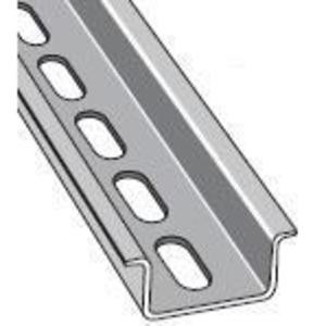 Entrelec 010159826 DIN Rail, Slotted, Zinc Plated Steel, 35mm x 15mm x 2m