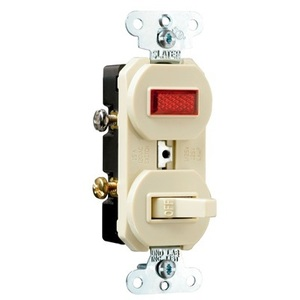 Pass & Seymour 692-I Switch/Pilot Light Combo, 15A, Ivory