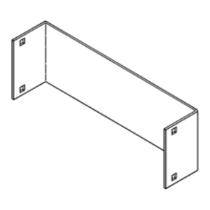"Cooper B-Line 9A-1086-24 Blind End Plate, 5"" NEMA, 6"" High, 24"" Wide, Aluminum"