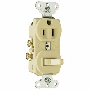 Pass & Seymour 691-I Switch / Duplex Combination, 15A, Ivory