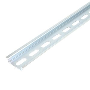 Entrelec 17322005 DIN Rail, Slotted, Zinc Plated Steel, 35mm x 7.5mm x 2m