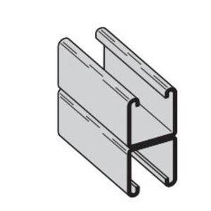 "Eaton B-Line B22A-120AL Channel - Back To Back, Aluminum, 1-5/8"" x 3-1/4"" x 10'"