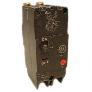 GE Industrial TEY250 Breaker, Bolt On, 50A, 480/277VAC, 2P, Molded Case, 14kAIC