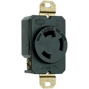Pass & Seymour L630-R Locking Receptacle, 30A, 250V. L6-30R, 2P3W