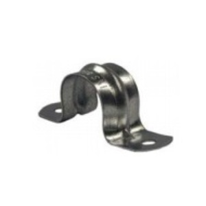 """Hubbell-Raco 2232 Conduit Strap, 1/2"""", 2-Hole, Steel/Zinc Plated"""