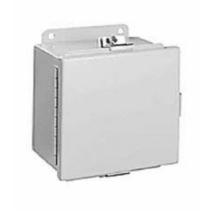"Hubbell-Wiegmann BN4060604CH Junction Box, NEMA 4, Continuous Hinge, 6"" x 6"" x 4"", Steel"