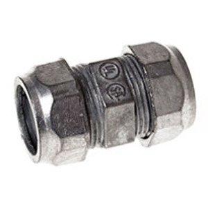 """Hubbell-Raco 2825 EMT Compression Coupling, 1-1/4"""", Zinc Die Cast, Concrete Tight"""