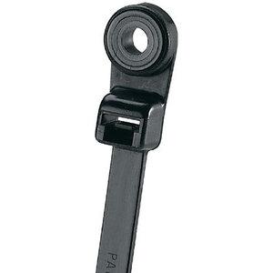 "Panduit PLC2S-S10-M30 Clamp Tie, 7.9""L (201mm), #10 (M5) Screw, Standard, Heat Stabilized, Black"