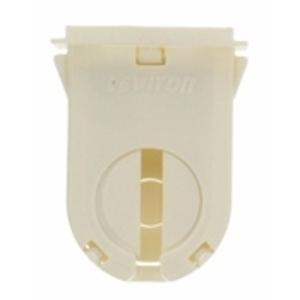 Leviton 23661-OSL Fluorescent Lampholder, Medium Base, Turn Type w/ Lock, White