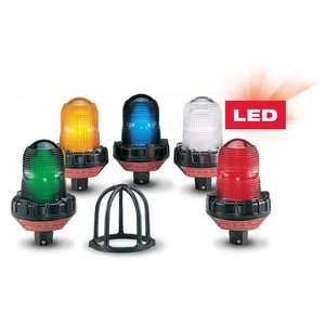 Federal Signal 191XL-024A Flashing LED Hazardous Location Warning Light, 24VAC/DC, Amber
