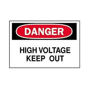 Brady 84084 Electrical Hazard Sign, DANGER HIGH VOLTAGE KEEP OUT