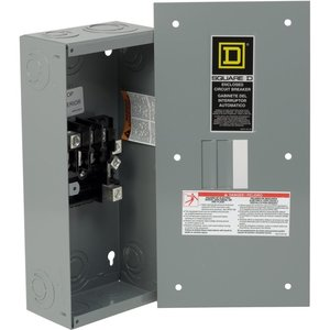 Square D QO3100BNF Breaker, Enclosure, 100A, 240VAC, 3P, 22kAIC, NEMA 1, Flush