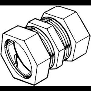hubbell-raco 2870 emt compression coupling, size: 2-1/2
