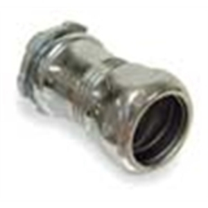 """Hubbell-Raco 2908 EMT Compression Connector, 2"""", Concrete Tight, Steel"""