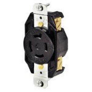 Hubbell-Bryant 71420FR Locking Receptacle, 20A 125/250V, L14-20R, Black