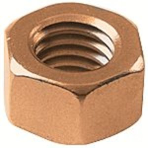 "Burndy 25CHENBOX Hex Nut, 1/4"", Silicone Bronze"
