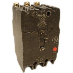 GE Industrial TEY340 Breaker, Bolt On, 40A, 480/277VAC, 3P, Molded Case, 14kAIC