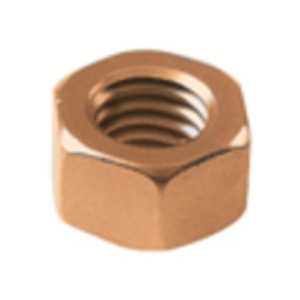 "Burndy 38CHENBOX Hex Nut, 3/8"", Silicone Bronze"