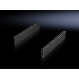 Rittal 8601080 Trim Panels, Base/Plinth, Sides, 100mm, Black, Steel, 1 Pair
