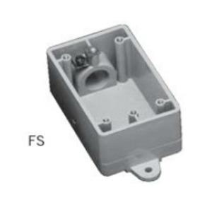 "Ipex 077601 PVC Device Box, 1-Gang, 1/2"" Hub, Depth: 2"", FS Style"