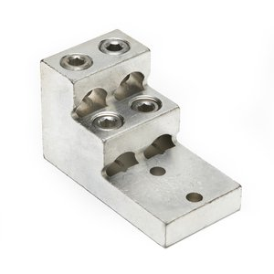 Burndy K22A36U2 Stacked Lug, Aluminum, 4-Conductor, 2-Hole Mount, 2 AWG to 600 MCM