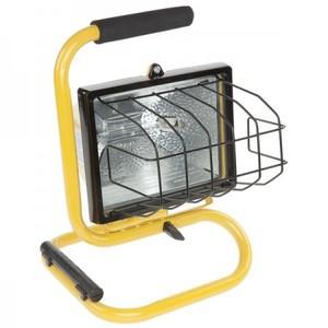 Bayco Products SL-1002 500 Watt, Halogen, Single Fixture Work Light, 120V, Yellow