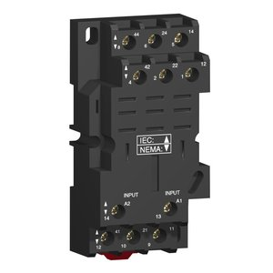Square D RPZF3 Relay Plug-In, Socket, 11 Blade, for RPM3 Relays