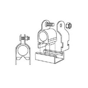 "Superstrut A716-1-1/8 Pipe Hanger, Cushion Type, 1-1/8"", Steel/GoldGalv"