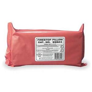 "Specified Tech SSB24 Red Fire Barrier Pillow - LxWxD: 2""x 4""x 9"", 10 per Case"