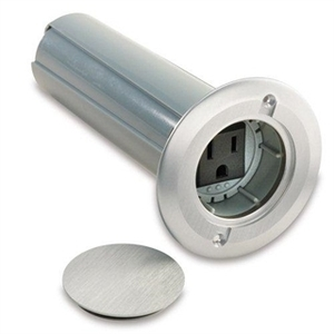 """Carlon E971FADIB-2 Floor Box Assembly, 2-1/4"""" Round, Type: Drop In, Aluminum, without Hole Saw"""