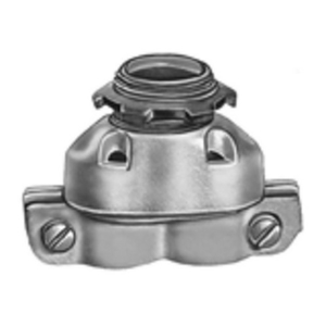 "Bridgeport Fittings 630 AC/Flex Connector, Duplex Clamp, Size: 3/8"", Malleable Iron"