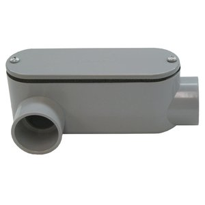 "Bizline 400LR Conduit Body, Type LR, Size 4"", Cover/Gasket, PVC"